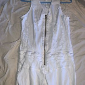 All White Guess Jumpsuit